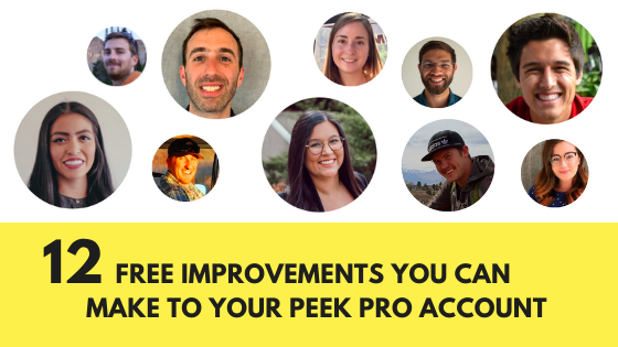 12 free improvements you can make to your Peek Pro account